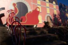 candycane at Christmastown (nocklebeast) Tags: christmastown newbrightonstatebeachpark polarexpress santacruzcounty nrd tracks train aptos ca usa scphoto xmastownl2070194