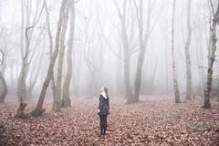 The fog (Sarah-Louise Burns) Tags: fog girl vintage retro fashion foggy woods woodlands