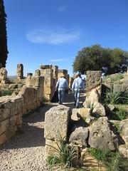 Two park staff walking in Roman ruins of Volubilis, Morocco (Paul McClure DC) Tags: people morocco almaghrib fèsmeknèsregion volubilis jan2017 roman architecture historic