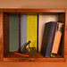 Shadowbox Shelf made from reclaimed wood pieces