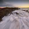 Elie Lighthouse (Douglas Collinson) Tags: elie lighthouse eastneuk sea seascape long exposure blue hour movement nikon d800 1635 vertorama fife coast