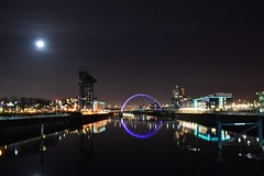 Glasgow City Reflections (rockyrutherford) Tags: glasgow clyde clydeside riverfront river city scotand reflction reflections colour night nightshoot tripod