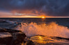 Wave_ (JLindroos) Tags: sunset sun horizon clouds sea seascape wave colorful splash rocks glow winter finland pori reposaari ocean canon zeiss lee filters jlindroos