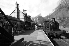 2682-23 (Ian R. Simpson) Tags: 2682 princess bagnall steam locomotive train lakesidehaverthwaiterailway loco engine bw