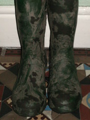 A 044 (rugby#9) Tags: dirtyhunters dirtyboots dirtywellingtons dirtywellies rubber boots rubberboots wellingtons wellies green hunters size8 8 hunterboots indoor muddyboots muddyhunters muddyhunterboots