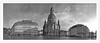 Dresden Frauenkirche (friedrichfrank1966) Tags: dresden frauenkirche tour bw monochrome einfarbig building church heaven clouds wolken rainy regen wetter weather altstadt oldtown panorama pano holiday ferien reise