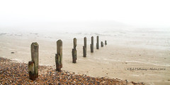 Foggy Elmer Beach (rhfo2o - rick hathaway photography) Tags: rhfo2o canon canoneos7d elmer elmersands bognor bognorregis westsussex sand pebbles groyne fog seadefences sea seaside