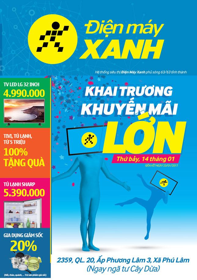 Khai trương siêu thị Điện máy XANH Phương Lâm, Tân Phú, Đồng Nai