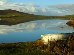 Kirbister loch (stuartcroy) Tags: orkney island kirbister loch reflection beautiful blue bay beach scotland scenery sky sea