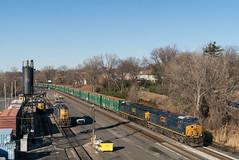 New York City's Finest Export (sullivan1985) Tags: newjersey nj goldenhour freight freighttrain railroad railway train bergencounty cp5 ridgefieldpark q409 csxt3207 csxt691 ac6000cw es44ah ge generalelectric garbage trash nysw susquehanna rivl riversub riverline yn3b boxcar gp382 february cold