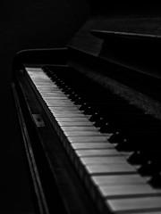 Keys (Pilleluringen) Tags: piano keys blackandwhite bnw bw white monochrome pianokeyboard music blackbackground stringedinstrument