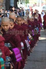 30099731 (wolfgangkaehler) Tags: 2017 asia asian southeastasia myanmar burma burmese mandalay mahagandayonmonastery mahagandayonmonastary people person monks buddhist buddhistmonasteries buddhistmonastery buddhistmonk buddhistmonks almsceremony almsbowls meal