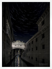 Sighing to the stars... (Photography by Julia Martin) Tags: photographybyjuliamartin venice thebridgeofsighs startrailsabovethebridgesofsighs startrails startracks hasthisbeendonebefore startrailswhenthereislightpollution pontedellapaglia nightphotography nightphotographyinvenice venezia