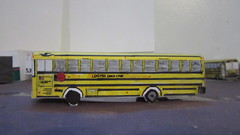 X279 - Lenzner Bus 1686 (Etienne Luu) Tags: lenzner coach lines usa blue bird corporation all american a3 fe paper cardstock model bus school