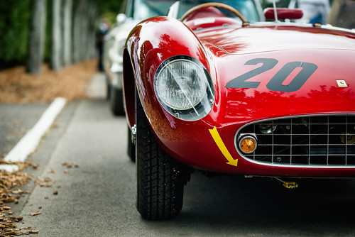 Ernst Schuster and Christoph Rendlen - 1957 Ferrari 500 TRC at the 2016 Goodwood Revival (Photo 4)