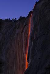Horsetail Lava Flow (WJMcIntosh) Tags: horsetailfall horsetailfalls firefall yosemite february sunset elcapitaln yosemitenationalpark lavaflow
