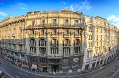 Via Del Tritone (Atomic Eye) Tags: viadeltritone rome italy fisheye street urban city cityscape architecture piazzabarberini shadow citycenter club16