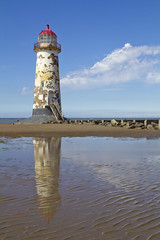 Talacre lighthouse (robwhite3) Tags: lighthouse tower beach wales architecture canon reflections river dee d550