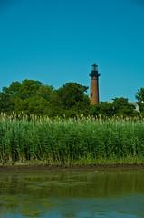 Currituck Light (ramseybuckeye) Tags: life light lighthouse house art beach water grass reeds pentax north sound carolina tall outer banks corolla currituck