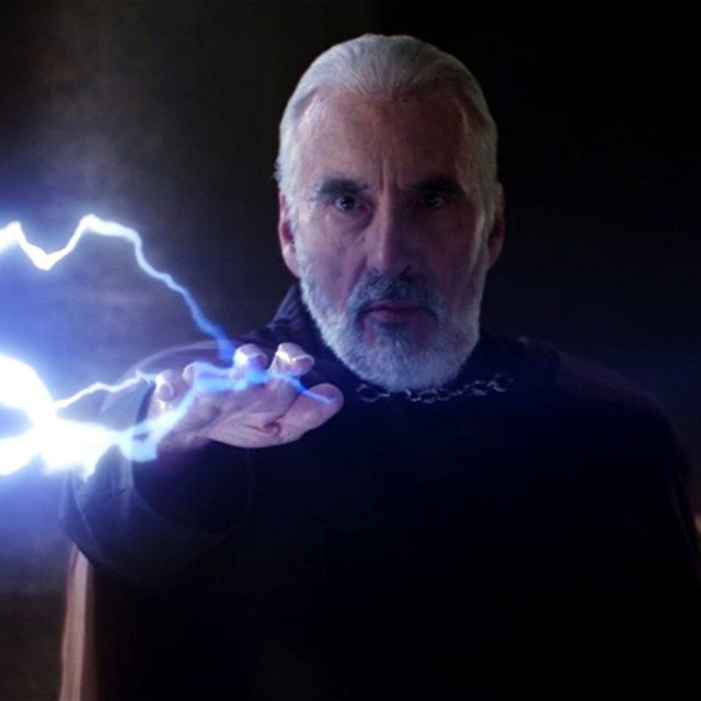 My throwback Thursday is a sad one.  CHRISTOPHER LEE as Count Dooku in 2002. CHRISTOPHER LEE sadly passed away from us this day. He became 93 years old. #2002 #attacoftheclones #Throwback #Tbt #ThrowbackThursday #ChristopherLee #RIP #StarWars #Actor #Meta
