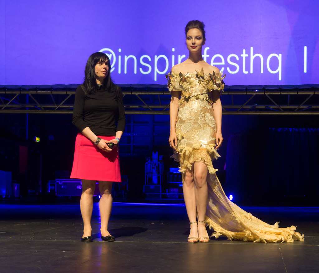 MARTINA LAWLOR PRESENTS THE INTERACTIVE BUTTERFLY DRESS [INSPIREFEST 2015]REF-105712