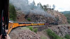 DSNG486CurveDurangoCO6-13-15 (railohio) Tags: colorado trains steam durango narrowgauge d90 durangosilverton dsng 061315 trains75