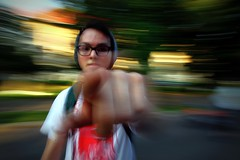 Try walking in my eyes! (Cristian tefnescu) Tags: summer portrait glasses eyes finger son panning