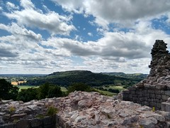View from the battlements, Beeston Castle