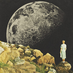 Mount Moon (Mariano Peccinetti Collage Art) Tags: moon art girl collage vintage artwork 60s surrealism space retro lsd fullmoon mount psycho collageart dreams planet 70s dada surrealist meditation dope psychedelic cosmic dmt vintageart collageartist paom society6 peccinetti marianopeccinetti