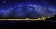 Milkyway pano (ita.daniels) Tags: new sea sky panorama beach night way stars photography coast brighton astro zealand aurora otago dunedin milky australis