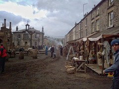 Kirkby Lonsdale, Cumbria,  UK during filming of Jamaica Inn 2014... (zapperthesnapper) Tags: movie town motorola cumbria movies drama filming filmset jamaicainn tvdrama daphnedumaurier kirkbylonsdale motorolaatrix