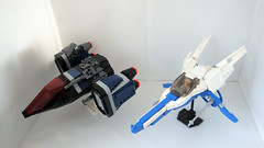 """UMP-2 """"Outlaw"""" (Jayfourke) Tags: fighter lego space spaceship greebles"""