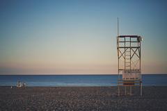 vacant (thatgirlwiththekicks) Tags: blue summer sky ontario canada beach kids swimming children evening sand waves lakeerie bokeh tide lifeguard shore portstanley