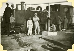 Egypt Railways - a steam locomotive being refuelled