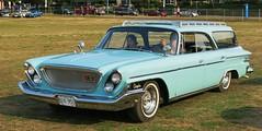 1962 Chrysler Newport 4-door hardtop station wagon (Custom_Cab) Tags: door blue hardtop car station wagon 4 newport chrysler 1962 4door
