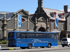 Tantivy 9 (Coco the Jerzee Busman) Tags: uk blue bus islands coach camo renault cannon jersey swift dennis tours dart channel leyland lcb plaxton tantivy