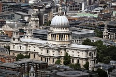 St Pauls Cathedral From The Shard (Feggy Art) Tags: city uk england building london water glass st thames canon river fire eos europe european view cathedral britain south union great christopher bank pauls wren sir shard bishop anglican highest tallest 6d diocese apostle