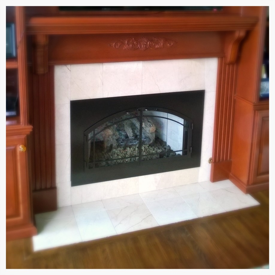 Custom Fireplace Glass Doors, Signal Mtn. Tennessee.