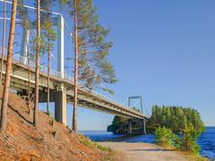 Karinsalmen silta (MikeAncient) Tags: bridge lake architecture geotagged hdr jrvi silta tonemapped tonemap 4exp pulkkilanharju