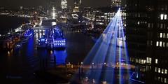 Lasershow..................Explorer am 22.12.2016 (petra.foto busy busy busy) Tags: fotopetra sony rx100m2 hamburg hafen laser licht langzeitbelichtung lasershow blau germany elbphilharmonie schiffe abend