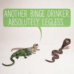 Crawling Home (aledlewis) Tags: msed makesomething 365 2017 makesomethingnew personalproject binge drinking drunk alcohol uk booze cobra hornedlizard iguana legless