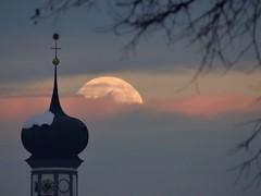 Moonrise - full moon (Michael Schober Fotos) Tags: luna lune mond mondaufgang stimmung hall tirol