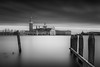 The calling (blondmao) Tags: church sea water pole italy venice sangiorgiomaggiore clouds venezia longexposure 13stopper bnw bw mediterranean monastery island rivadeglischiavoni isolasangiorgiomaggiore sky blackandwhite veneto