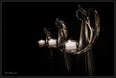 Angels Light (swanhetmanczyk1) Tags: bw monochrome angels prayer loved light candle nikon d7100