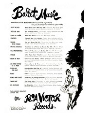 New York Advertisements: (painting in light) Tags: advertisement advert ad sell selling 1951 newyork new york usa us illustration art drawing metropolitan opera house ballet rca victor record phonograph gramophone columbia long playing records lp 3313
