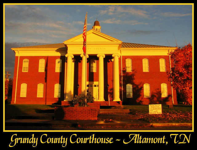 For Sale: TN Courthouse Postcard Collection: Grundy