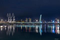 Zona industrial (alfonso-tm) Tags: puerto gruas puente barcos muelle mar fujifilmxt1
