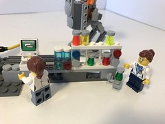 Research Station (KGoodlow) Tags: lego lab research chemicals centrifuge robot walker mech scientist science technician computer