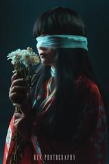 Lạc Lối | LOST (RENLUU) Tags: photography portrait headshot geisha japan japanese kimono studio strobist cosplay red culture sexual tattoo yakuza renluu lost photoshop figure flower hana