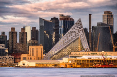 Getting to the Point (mhoffman1) Tags: oony2016 57west bjarkeingelsgroup hellskitchen hudsonriver manhattan midtown nyc sonyalpha tetrahedron viaw57 a7r architecture city pyramid residential sunset triangle urban